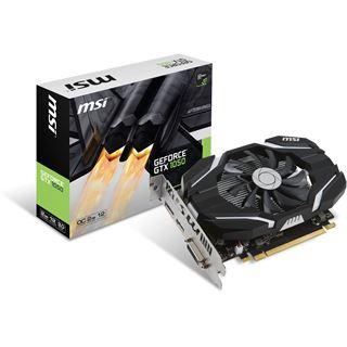 2GB MSI GeForce GTX 1050 2G OC Aktiv PCIe 3.0 x16 (Retail)