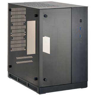 Lian Li PC-Q37 mit Sichtfenster Mini-ITX ohne Netzteil schwarz
