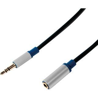 (€2,63*/1m) 3.00m LogiLink Audio Anschlusskabel 3.5mm Klinken-Stecker auf 3.5mm Klinken-Buchse Schwarz Alugehäuse