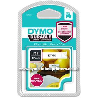 Dymo D1 Vinyl-Schriftband HP schwarz/weiß 12 mm x 7 m