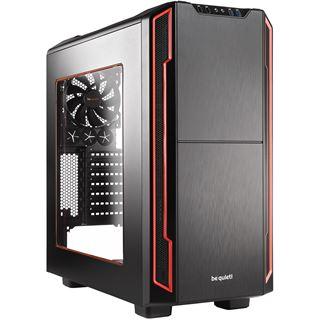 be quiet! Silent Base 600 gedämmt mit Sichtfenster Midi Tower ohne Netzteil schwarz/rot