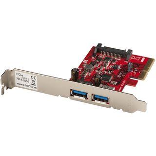 Lindy Premium USB 3.1 Karte 2 Port A, PCIe 2 x A USB 3.1 10GBit/s