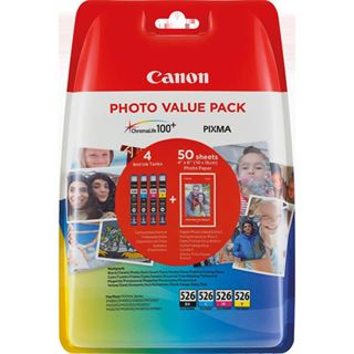 Canon CLI-526 PHOTO VALUE PACK TINTE C/M/Y/BK