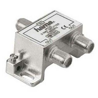 Hama Breitband-Kabelverteiler 2fach