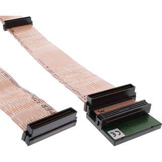 (€57,20*/1m) 0.75m InLine Flachbandkabel Anschlusskabel 68pol Stecker auf 68pol Stecker Schwarz