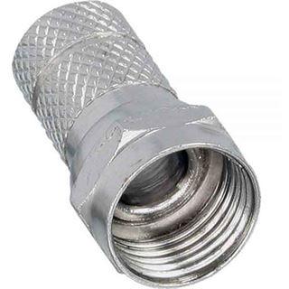 F-Stecker für Koaxkabel mit Außenmantel 6,7mm