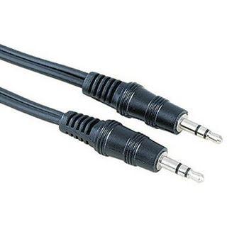 1.50m Hama Audio Verbindungskabel 3.5mm Klinke Stecker Stereo auf 3.5mm Klinke Stecker Stereo Schwarz