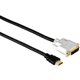 5.00m Hama HDMI1.3 Adapterkabel 19pol HDMI Stecker auf DVI 18+1 Stecker Schwarz