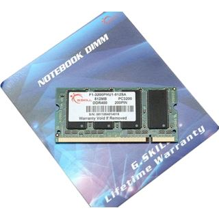 512MB G.Skill SA Series DDR-400 SO-DIMM CL3 Single
