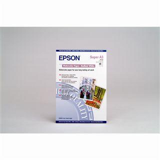 Epson WaterColor Paper – Radiant White Wasserfarbenpapier 32.9x42.3 cm (20 Blatt)