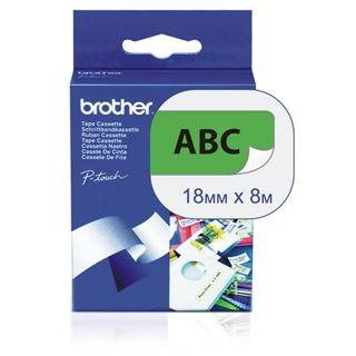 Brother TZ-Band (741) 18 mm schwarz/grün