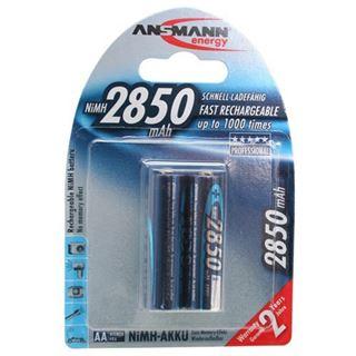 ANSMANN Akkus AA / Mignon Nickel-Metall-Hydrid 2850 mAh 2er Pack