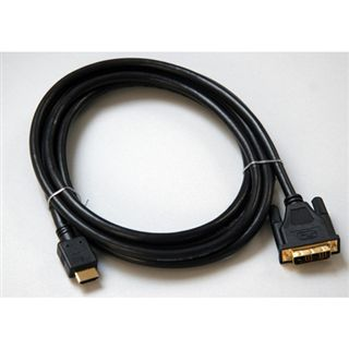 (€2,97*/1m) 3.00m InLine HDMI Adapterkabel HDMI auf DVI 18+1 Stecker Schwarz vergoldet