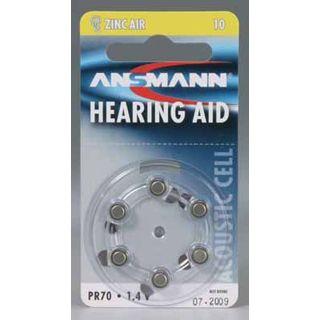 ANSMANN Hearing Aid PR70 Zink-Luft 1.4 V 6er Pack