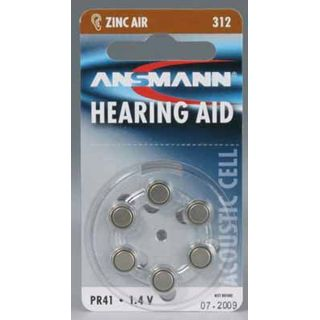 ANSMANN Hearing Aid PR41 Zink-Luft 1.4 V 6er Pack