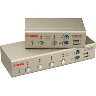 Longshine LCS-K704 2-fach Desktop KVM-Switch