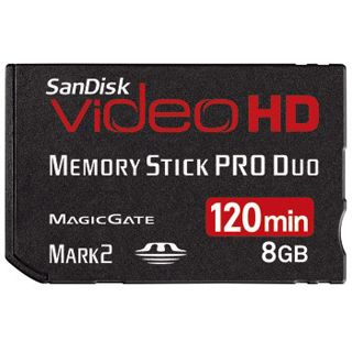 8GB SanDisk MemoryStick Pro Duo(TM) Video HD Ultra II