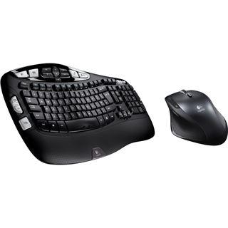 Logitech Cordless Desktop Wave Pro Tastatur+Maus Schwarz Deutsch USB