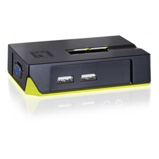 LevelOne KVM-0222 2-fach Desktop KVM-Switch