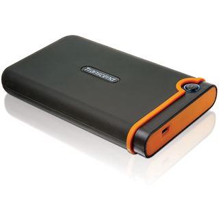 """250GB Transcend StoreJet 25 Mobile 2.5"""" (6.35cm) Schwarz/Orange USB2.0"""