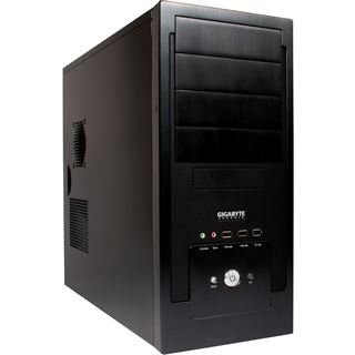 Gigabyte Setto 1000 Midi Tower ohne Netzteil schwarz