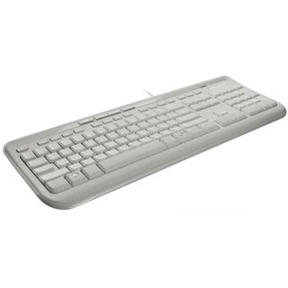 Microsoft 600 USB Deutsch weiß (kabelgebunden)