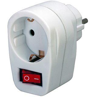 Brennenstuhl Steckdose mit Schalter Schuko Stecker auf Schuko Buchse Weiß