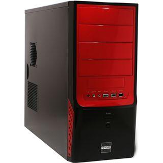 Gigabyte GZ-X4 Midi Tower ohne Netzteil schwarz/rot