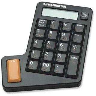 Manhattan Nummeric Keypad Asynchron Schwarz USB