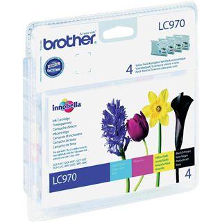 Brother Tinte LC-970 Value Pack LC970VALBP schwarz, cyan, magenta, gelb