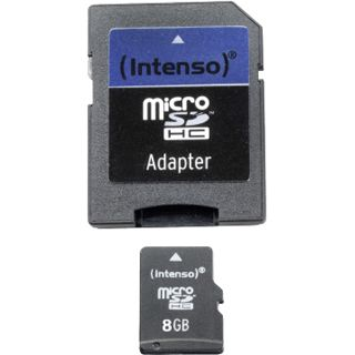 8 GB Intenso Standard microSDHC Class 4 Retail inkl. Adapter