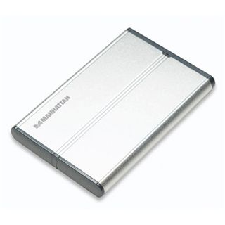 "2.5""(6,35cm) Mahattan Enclosure 703246 Alu IDE USB 2.0 Silber"