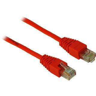 (€1,30*/1m) 3.00m Inter-Tech Cat. 5 Patchkabel U/UTP RJ45 Stecker auf RJ45 Stecker Rot