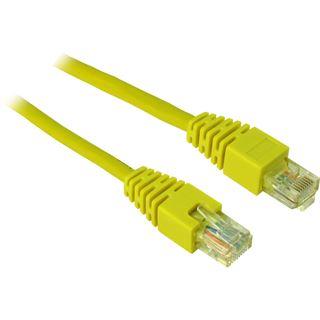 (€1,30*/1m) 3.00m Inter-Tech Cat. 5 Patchkabel U/UTP RJ45 Stecker auf RJ45 Stecker Gelb