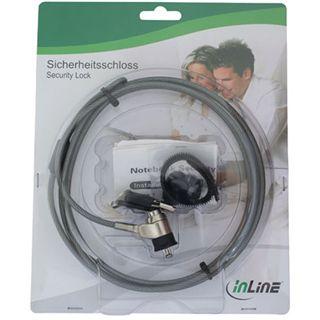 InLine Notebook Sicherheitsschloss, , mit Schlüssel, 4,4mm x 2m