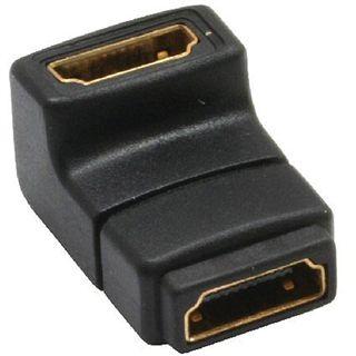 Delock HDMI Adapter 19pol Bu auf 19pol Bu, gewinkelt unten, vergoldete Kontakte