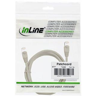 (€1,30*/1m) 3.00m InLine Cat. 5e Patchkabel U/UTP RJ45 Stecker auf RJ45 Stecker Grau