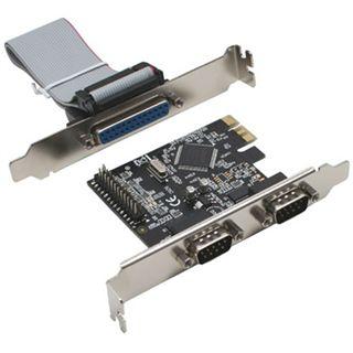 InLine Schnittstellenkarte, , 2x 9pol seriell + 1x 25pol parallel, PCIe (PCI-Express)