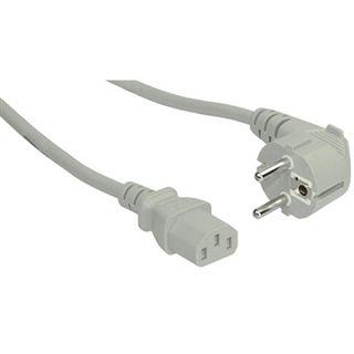 (€3,27*/1m) 1.50m InLine Stromkabel gewinkelt Schuko Stecker auf Kaltgeräte Stecker C13 Grau