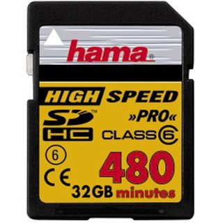 32 GB Hama Video SDHC Class 6 Bulk
