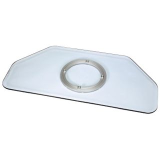 Hama LCD-/Plasma-TV-Drehteller, Glas, Klar 80,0 cm x 40,0 cm x 3