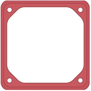 42 Degrees Lüfterrahmen Rubber Frame 1x Rot 80mm