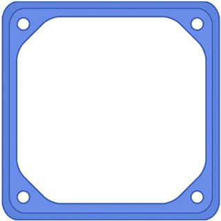 42 Degrees Lüfterrahmen Rubber Frame 1x Blau 120mm