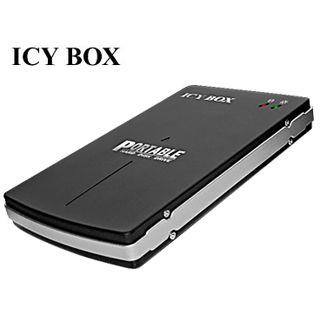 """2.5"""" (6,35cm) Icy Box 250StUE-B Firewire SATA USB 2.0 Schwarz"""