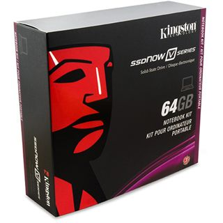 "64GB Kingston MLC SSDNow V Serie 2.5"" SATA II Notebook Kit"