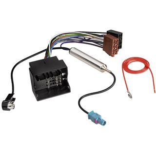 Hama Kfz-ISO-Adapter mit Phantomeinspeisung für AUDI + VW