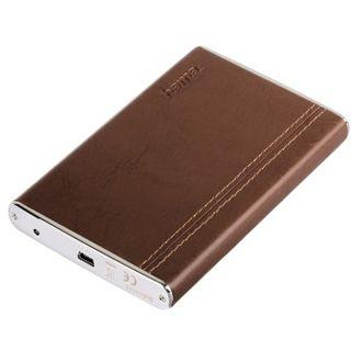 """2,5""""(6,35cm) Hama Festplattengehäuse in Lederoptik SATA -> USB Braun"""