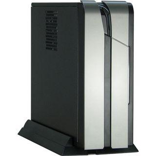 Inter-Tech ITX-101 ITX Tower 60 Watt schwarz/silber