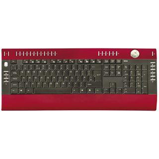 Saitek PC Slim Tastatur Rot Deutsch USB