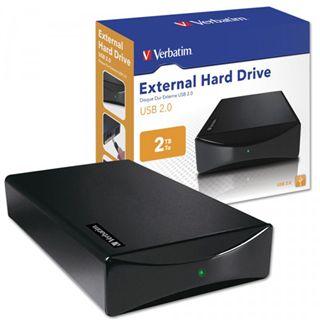 "2000GB Verbatim External Hard Drive 47514 3.5"" (8.9cm) USB 2.0 schwarz"
